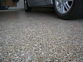 Full flake epoxy flake garage