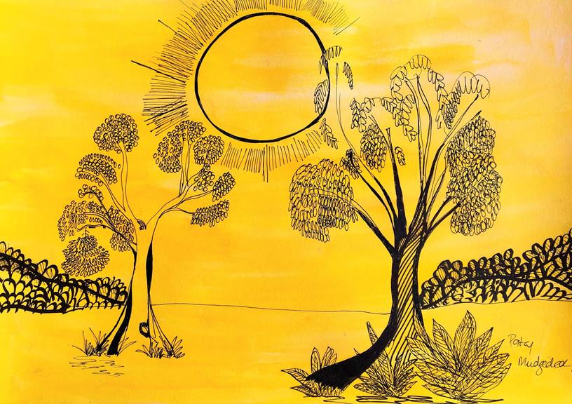 Desert Sun by Patsy Nakamarra Mudgedell