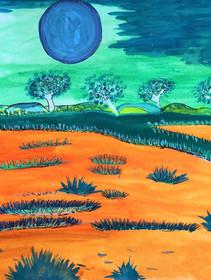 HYPNOTIC LANDSCAPE by Patsy Nakamarra Mudgedell