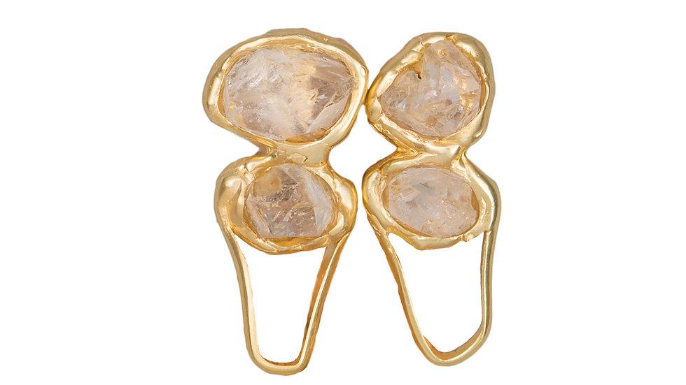 Gold Silence Earrings