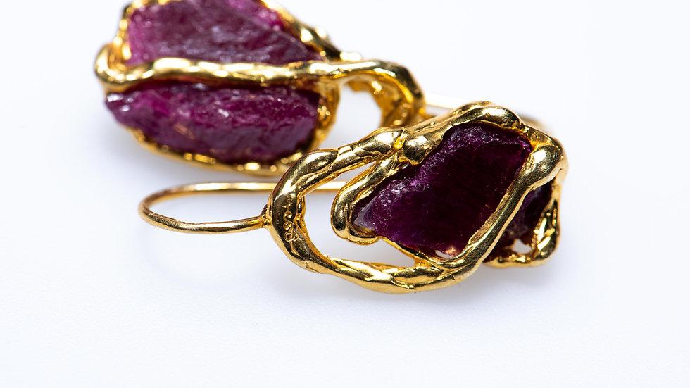 Ruby July Earrings