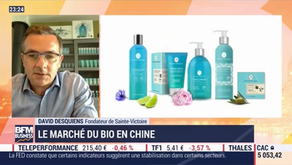 "Sainte-Victoire, soins Bio ""created in Provence"" se lance en Chine-Interview BFMTV D. Desquiens CEO"