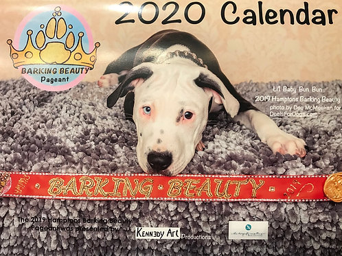 """2020 Barking Beauty Calendar 81/2"""" x 11"""" 28pgs"""