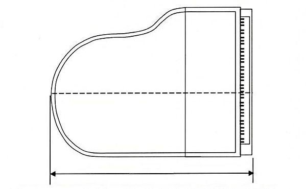 Grand pianos are measured by their overall length (all grand pianos are approximately the same height and width, so you only need to measure length). Close the lid of the piano completely when measuring, from one end of the keyboardto the end of the piano's curve. The accuracy is to get the longest measurement of your grand pianoand it can be given in centimeters or feet.