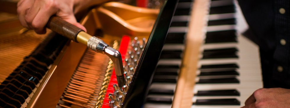 A piano should be tuned on a regular periodic basis, whether they are played hard or hardly at all. The purpose of regular tuning is not simply to make your piano sound better. Having an experienced piano tuner service your instrument can determine whether or not your piano needs additional preventative maintenance to safeguard the viability and integrity of the instrument. ​