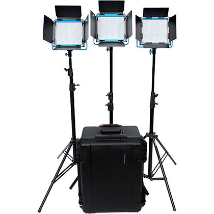 Dracast LED500 Bi-Color 3-Light Kit w/ V-Mount Plates & Hard Case
