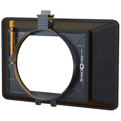 "Bright Tangerine Misfit Atom 4x5.65""/4x4"" 2-Stage Clip-On Matte Box"