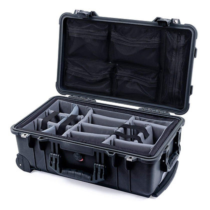 Pelican 1510 Carry-On Case w/ Padded Dividers & Mesh Lid Organizer