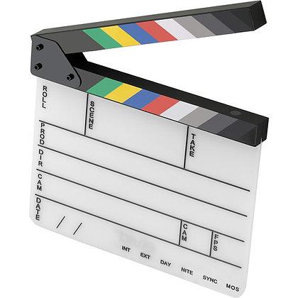 Elvid 9-Section Acrylic Dry Erase Production Slate W/ Soft Case Kit