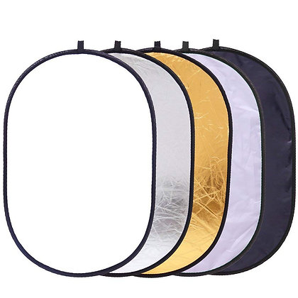 "23""x35"" 5-in-1 Collapsible Oval Multi-Disc Light Reflector"