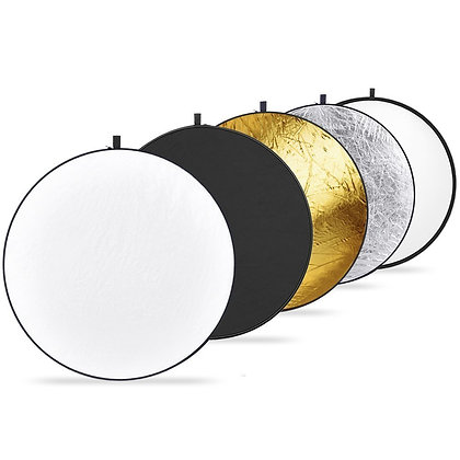 "43"" 5-in-1 Collapsible Round Multi-Disc Light Reflector"