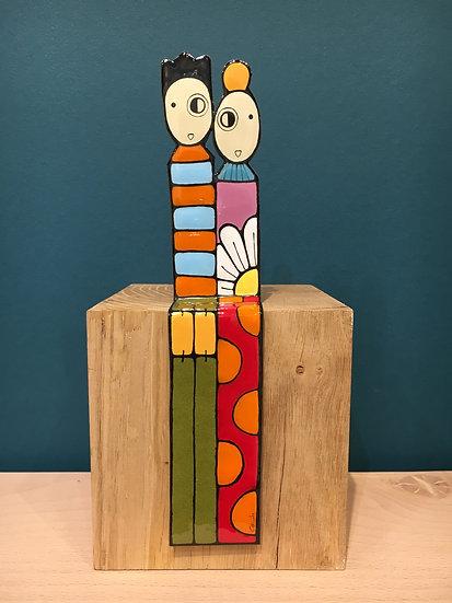 Peytour-Quendolo «Statuette couple assis Totem»