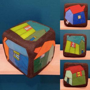 """Michelle Combeau - Cube """"Maisons 3D"""""""
