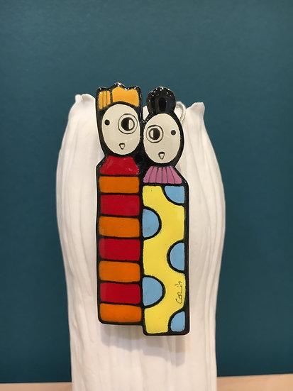 Peytour-Quendolo «Broche couple totem»