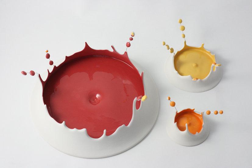 Passage secret - Splash ! Composition rouge orange jaune