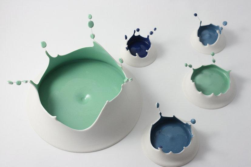 Passage secret - Splash ! Composition vert et bleu