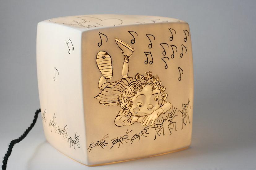 """Passage secret -Veilleuse Cube Bêtise """"la danse des fourmis"""""""