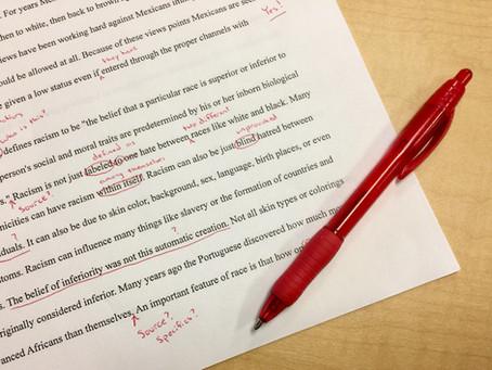 Relecture approfondie des textes : la moindre des corrections !