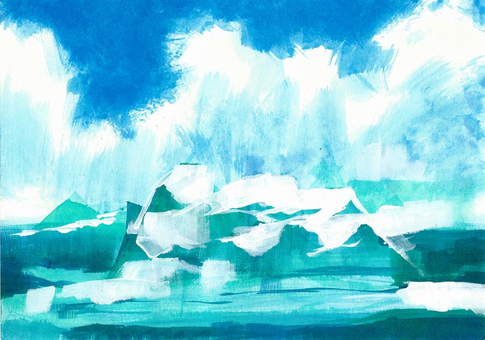 Iceberg - Rough Painting