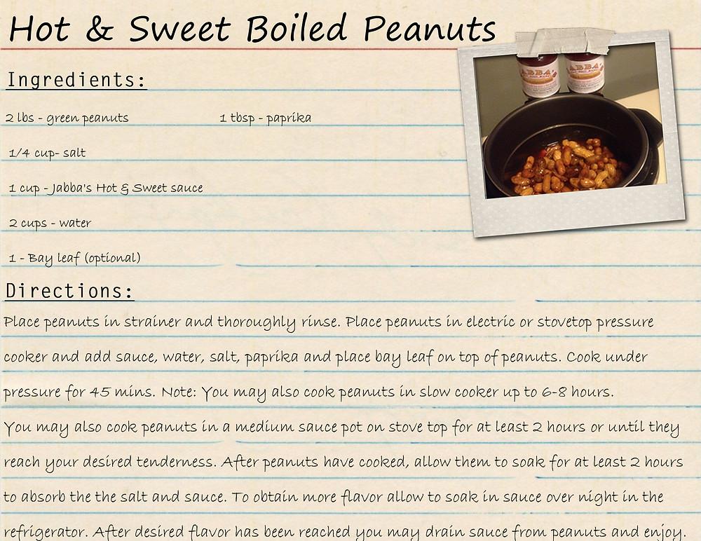 Hot & Sweet Boiled Peanuts