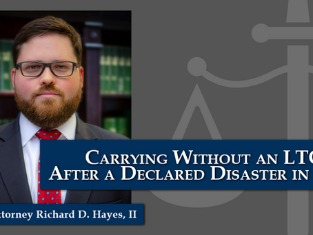 Carrying Without an LTC After a Declared Disaster - Texas