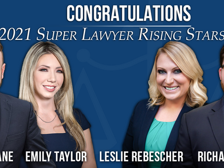 Congratulations, 2021 Super Lawyer Rising Stars!