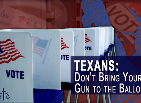 Texans! Don't Bring Your Gun to the Ballot Box