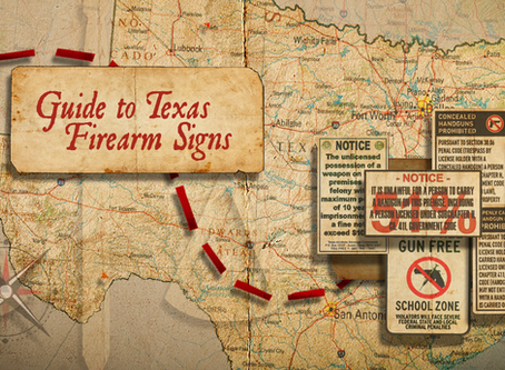 Guide to Texas Firearm Signs