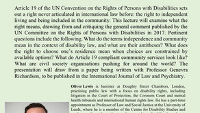 Human Rights Seminar Series: What is the right to live in the community?