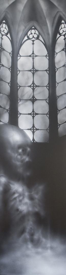 baptism of death 4'x 1' acrylique sur pa
