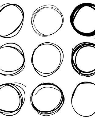 desenho-a-mao-conjunto-de-circulo-de-tin