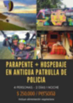 parapente + hospedaje en antigua patrull