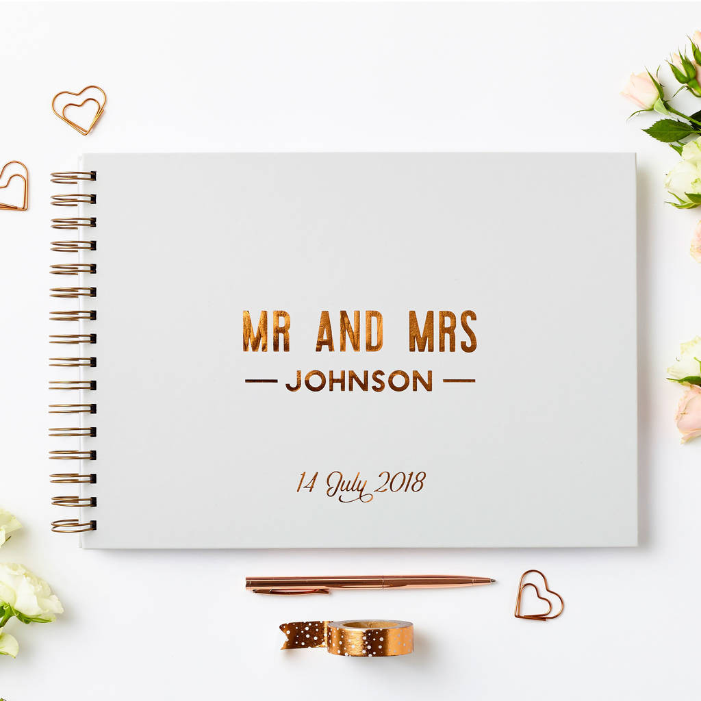 Snap & Love x Martha Brook - Copper Wedding Guest Book