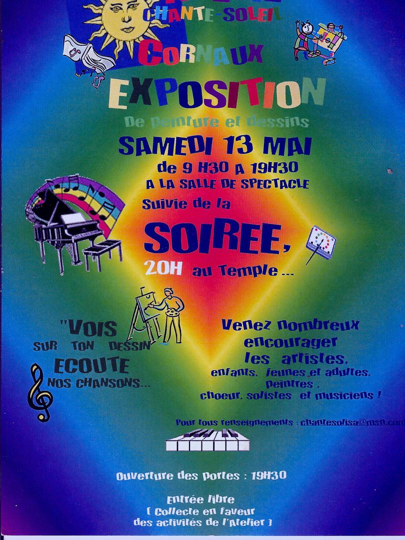 Spectacle  au temple de Cornaux , 13 mai 2005