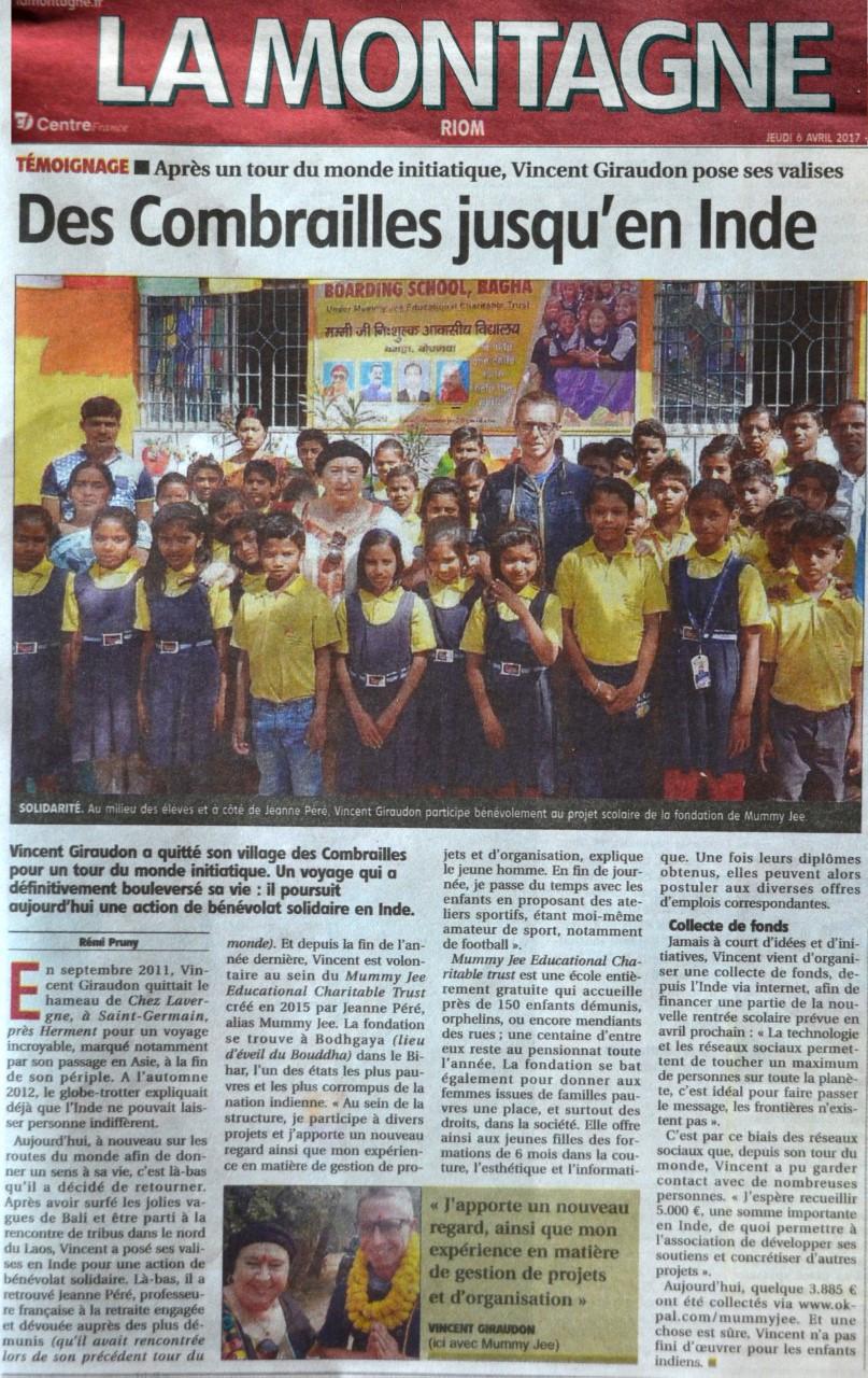 Volontariat Inde - Avril 2017