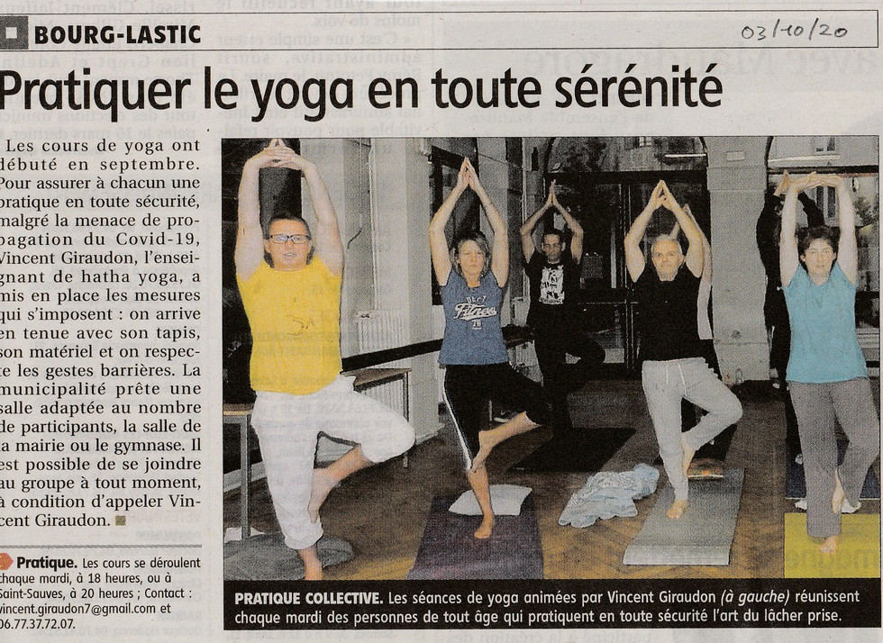 Hatha-Yoga Bourg-Lastic