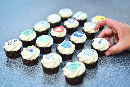 Minicupcakes med spiseliglogo