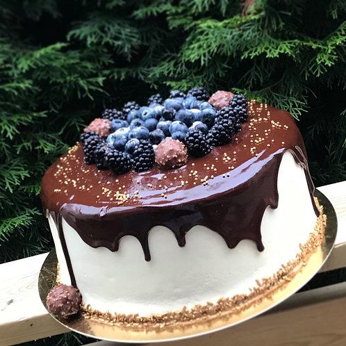 Sjokolade drip kake