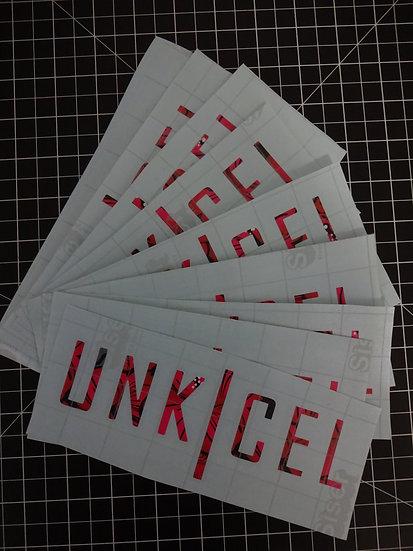 UNK CEL Bar Breaker Slap Stickers