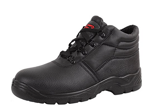 Blackrock Black Leather Safety Boots With Steel Toe Caps