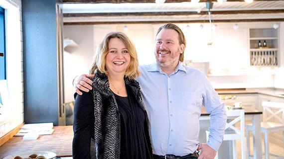 Anette Ohlsson och Martin Palmé Skaparduon bakom SandC- Lyckedals köksutställningar