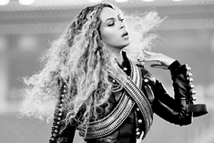 Woman, Beyonce, black leather jacket, formation, curly hair, long hair