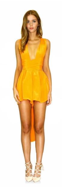 """a5fa76a0bb ... Tangerine Dream Multiway Playsuit.   55.00. The exclusive """"Multiway  Playsuit"""" is a statement on its own. Crafted from 100% pure flowing silk  the garment ..."""