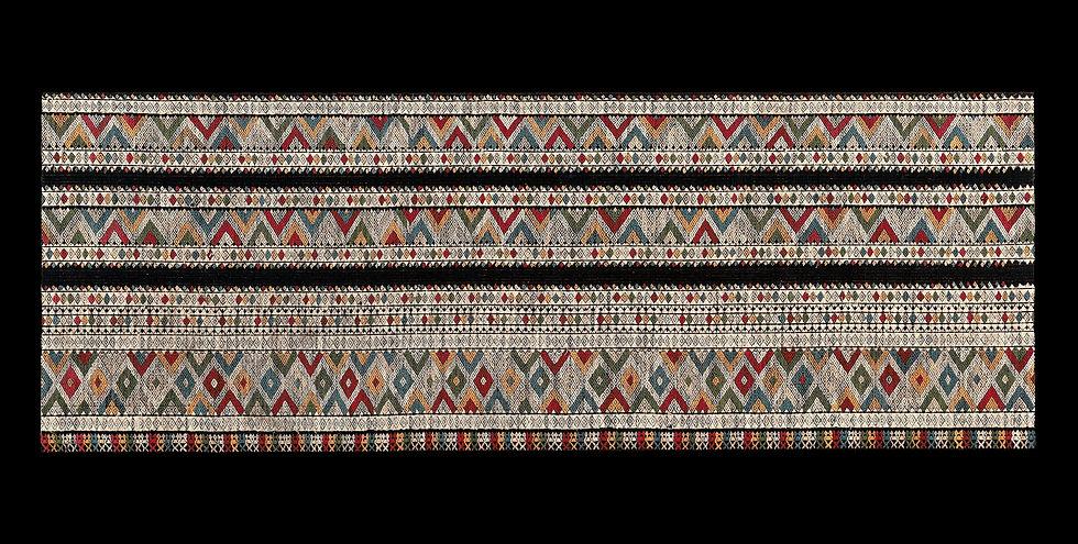 1900s Very elaborate 'Phaa Sin Koh' or ceremonial tube skirt