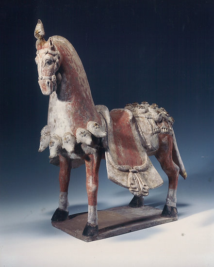 Northern Qi painted pottery horse