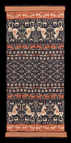 1980s Hinggi Kombu, man's ceremonial shawl