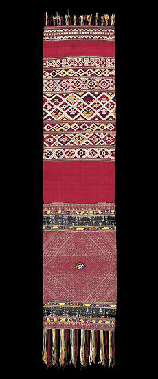 1920-40s  Phaa Biang or Phaa Sabai, shaman's ceremonial shoulder cloth