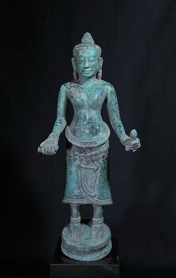 Late 12th century Bayon style, bronze Prajnaparamita.