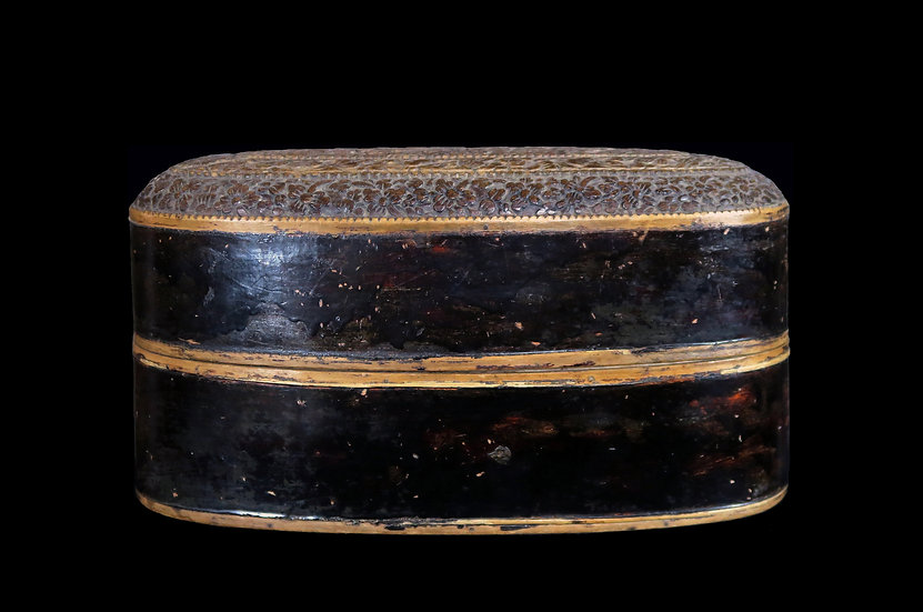 1880s Oval lidded box