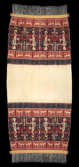 Extremely rare C. 1900 Sumbanese ceremonial shoulder cloth for royalty